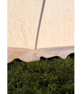 Tenda medieval Herold de 4 x 4 m. algodão branco natural