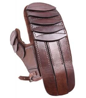 Luva couro acolchoado para esgrima e lazer, mão esquerda