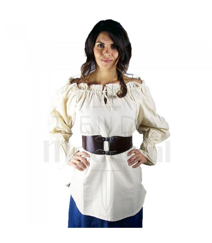 Blusa medieval Morgan branca natural