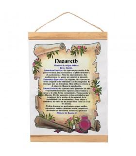 Banner com moldura de madeira Personalizado com o seu Nome (30x45 cm)