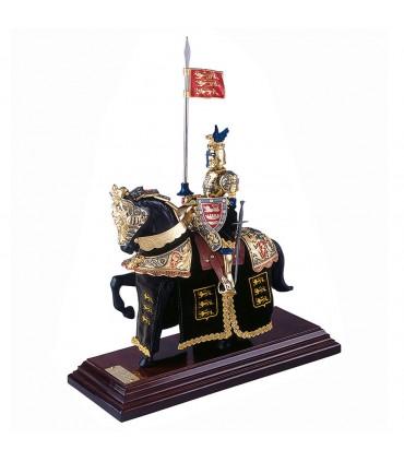 Armadura a cavalo Cidade do Dragão Dourado e Azul