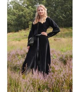 Vestido medieval Isabel, Veludo preto