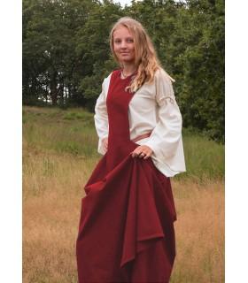 Vestido medieval Andra, vermelho