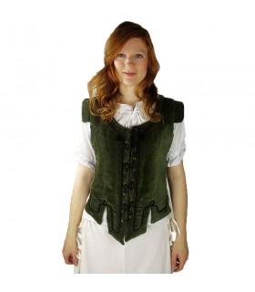 Colete medieval modelo Adrienne, verde