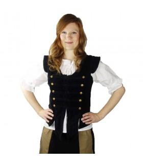 Colete pirata Capitão Adaliz, preto