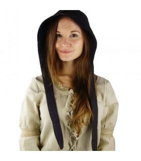 Crespina medieval mulher modelo Alex, marrom