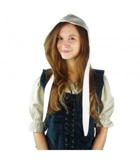 Crespina medieval mulher modelo Alex, branco natural