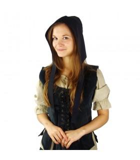Crespina medieval mulher modelo Alex, preto