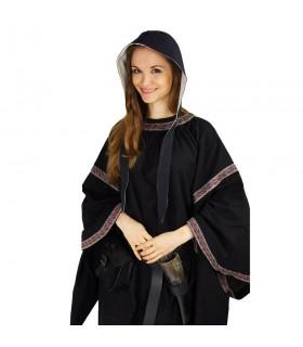 Crespina medieval mulher modelo Alex, preto e branco natural