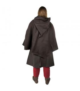 Gugel viking Egill, lã marrom escuro