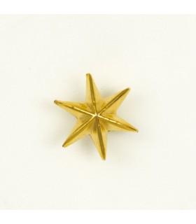 Estrela de 6 pontas de metal para uniforme