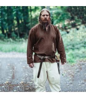 Ivar Viking túnica, marrom escuro