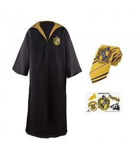 Pack Hufflepuff composto de túnica, gravata e tatuagens, Harry Potter