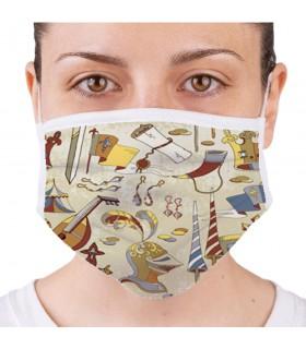 Máscara Medieval Reutilizável Homologada (para adultos)