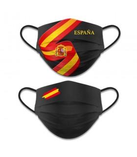 Acessório facial reversível Nível 3, Bandeira Espanhola