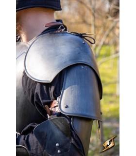 Ombreiras de Guerreiro medieval, acabamento preto