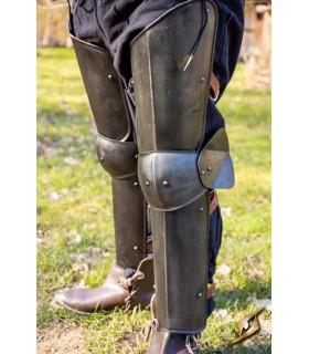 Protetores de pernas de Soldado, acabamento preto