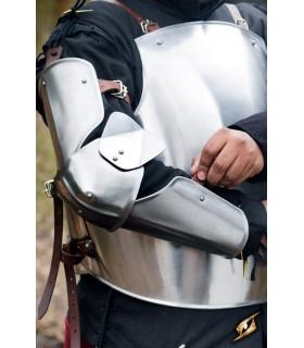 Protetores medievais de braço, acabamento polido