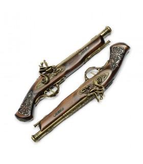 Set de armas de duelo latonadas