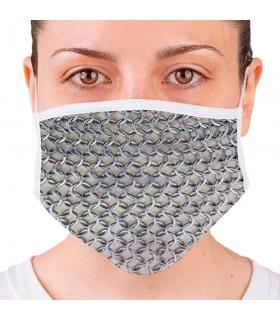 Máscara Medieval Cota de Malha Reutilizável (para adultos)
