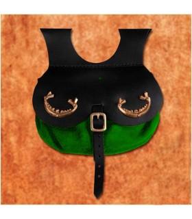 Saco viking modelo Thane, cor verde