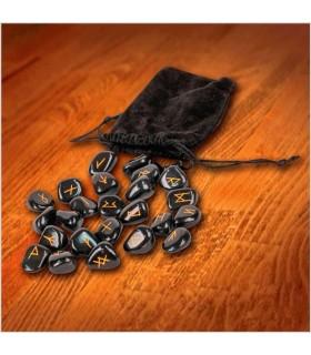 Conjunto de runas vikings com bolsa