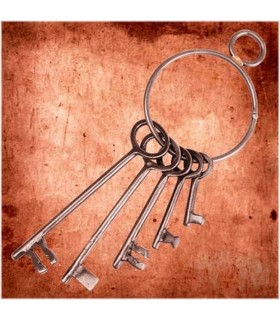 Conjunto de chaves do Calabouço Medieval