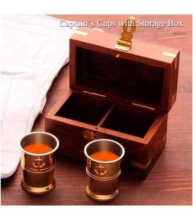 Conjunto de vasos Pirata com caixa de madeira