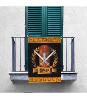 Estandarte da Legião Romana SPQR, escudo e gladius (70x100 cms.)