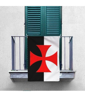 Bandeira Bicolor Cruz Templária, Patê (70x100 cms.)