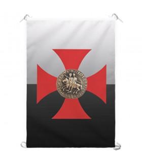 Estandarte Cruz Cavaleiros Templários (70x100 cms.)