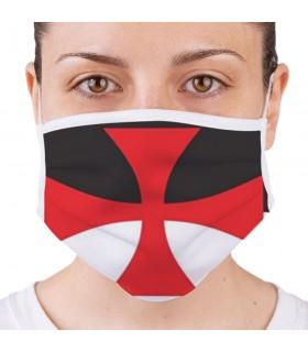 Máscara Cruz Templária, Reutilizável e Homologada (para adultos)