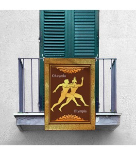 Estandarte Olimpíadas Gregas, Atletismo (70x100 cms.)