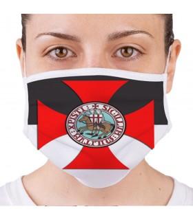 Máscara Cavaleiros Templários Reutilizável e Homologada (para adultos)