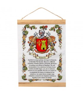 Banner com moldura de madeira Personalizado com seu Sobrenome (30x45 cm)