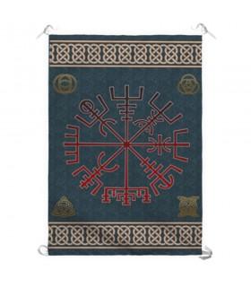 Estandarte símbolo viking Vegvisir (70x100 cms.)