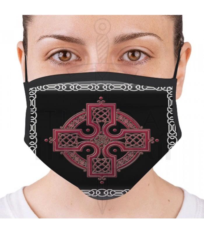 Máscara Cruz Celta Reutilizável e Homologada (para adultos)