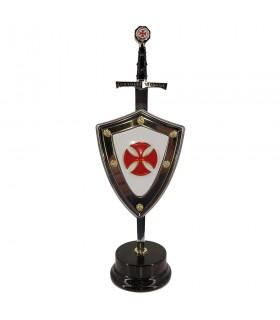 Set Cruzados, abre-cartas com escudo e stand