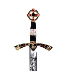 Espada Templária decorada dourada