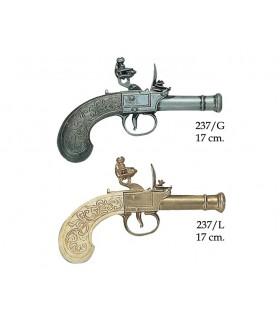Inglês pistola fabricada pela Bunney, do século XVIII