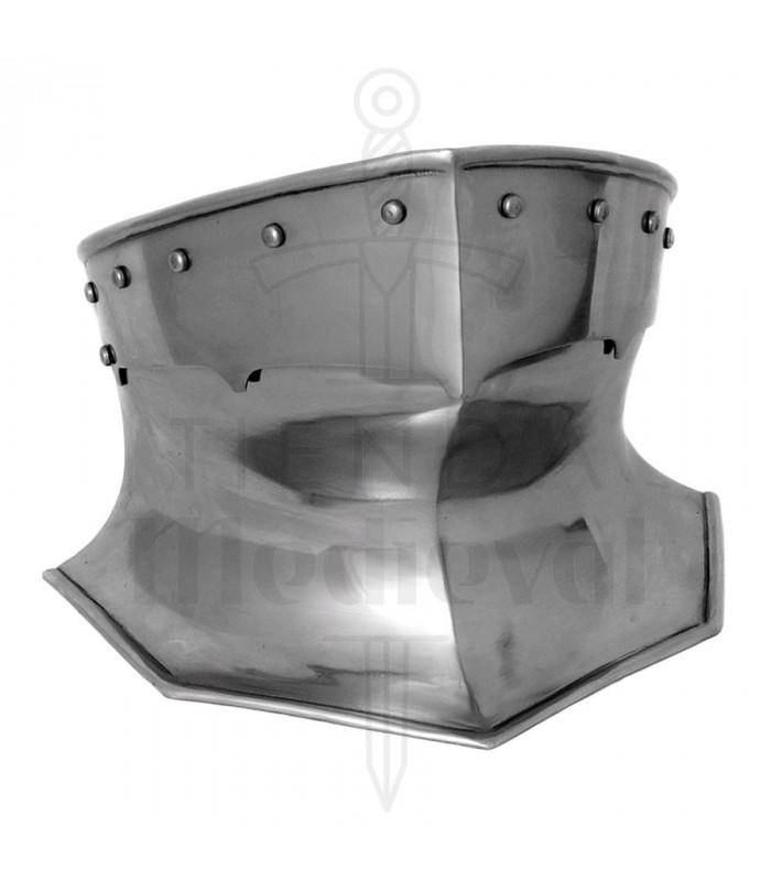 Protetor de pescoço de armadura medieval em aço, 1,6 mm.
