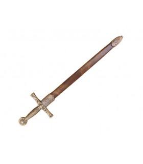 abridor de carta espada Excalibur com bainha