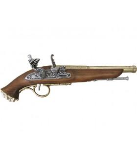 Pistola pirata percussão século XVIII