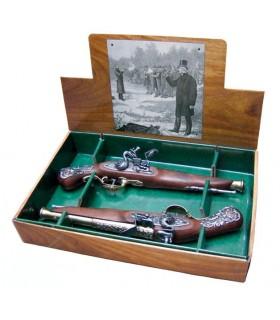 02 de setembro Inglês pistolas de duelo, século XVIII
