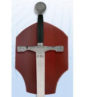 espada Excalibur com suporte de suspensão