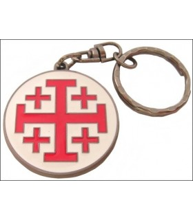 Chaveiro Cruz de St. John de Jerusalém