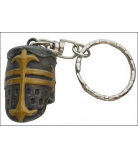 Keychain Helmet Medieval Templar