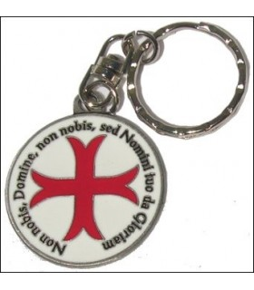 Cruz Templar Keychain com a lenda