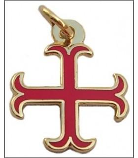 Pingente cruz templária ancorado
