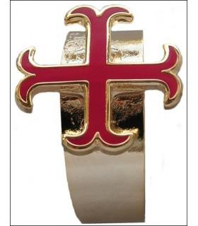 anel Templários cruz ancorada